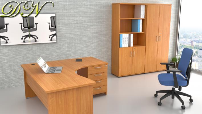 Sestava kancelářského nábytku Komfort 1.12, buk - ZE 1.12 11