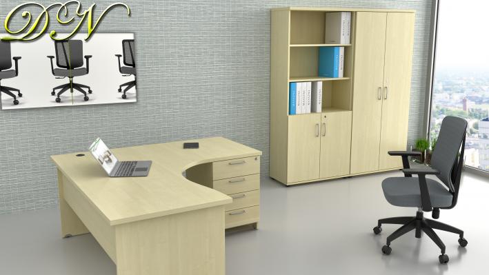 Sestava kancelářského nábytku Komfort 1.12, javor - ZE 1.12 12