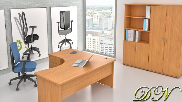 Sestava kancelářského nábytku Komfort 1.18, buk - ZE 1.18 11