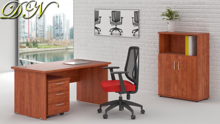 Sestava kancelářského nábytku Komfort 1.4, calvados - ZE 1.4 03