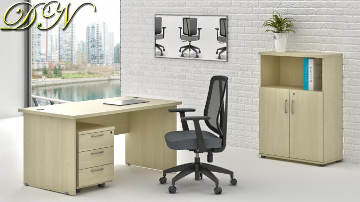 Sestava kancelářského nábytku Komfort 1.4, javor - ZE 1.4 12