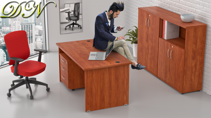 Sestava kancelářského nábytku Komfort 1.6, calvados - ZE 1.6 03