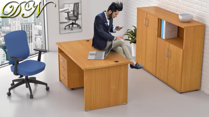 Sestava kancelářského nábytku Komfort 1.6, buk - ZE 1.6 11