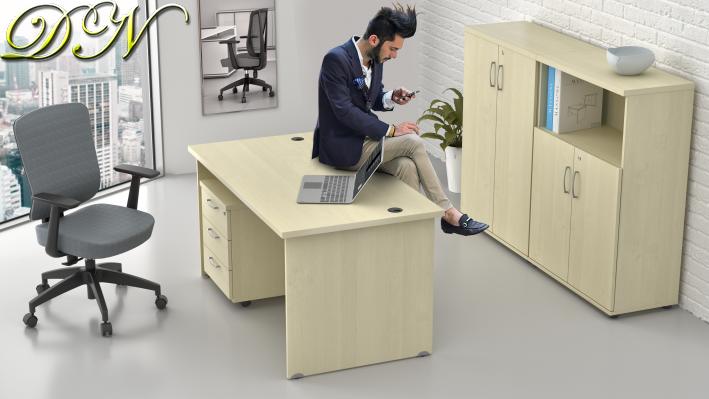 Sestava kancelářského nábytku Komfort 1.6, javor - ZE 1.6 12