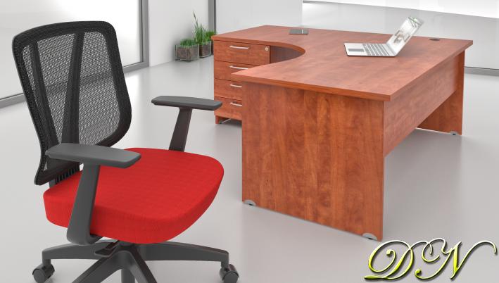 Sestava kancelářského nábytku Komfort 1.8, calvados - ZE 1.8 03