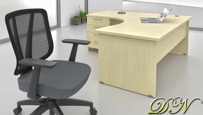 Sestava kancelářského nábytku Komfort 1.8, javor - ZE 1.8 12