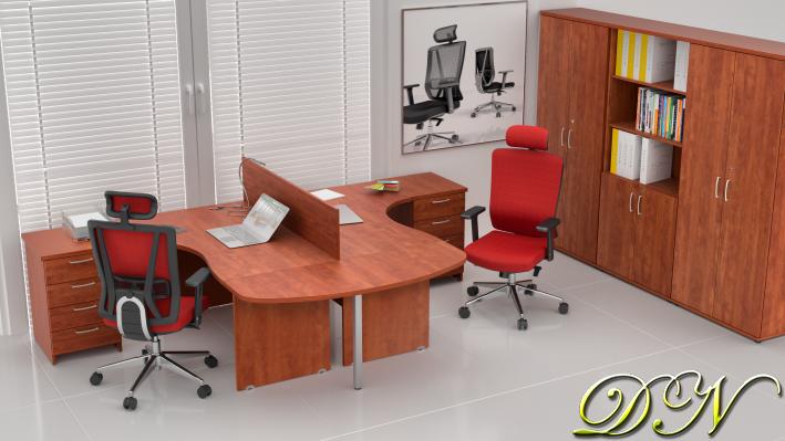 Sestava kancelářského nábytku Komfort 2.12, calvados - ZE 2.12P 03