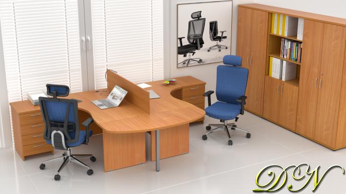 Sestava kancelářského nábytku Komfort 2.12, buk - ZE 2.12P 11