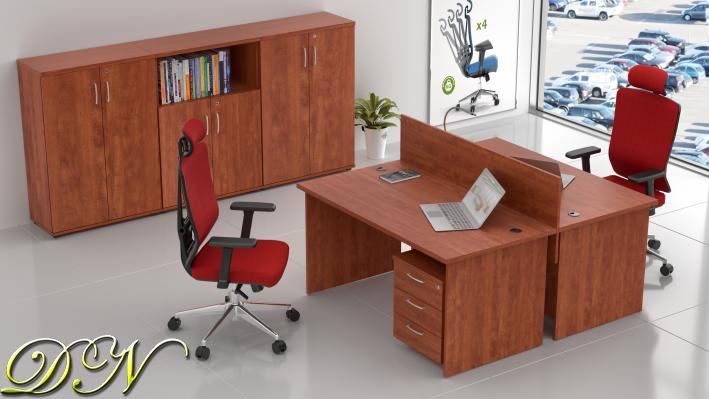 Sestava kancelářského nábytku Komfort 2.6, calvados - ZE 2.6 03