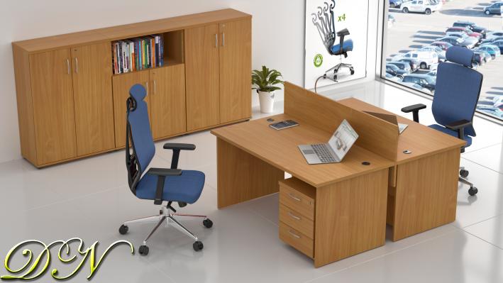 Sestava kancelářského nábytku Komfort 2.6, buk - ZE 2.6 11