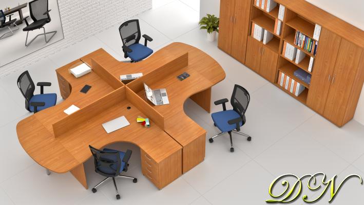 Sestava kancelářského nábytku Komfort 4.12, buk - ZE 4.12P 11