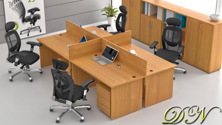 Sestava kancelářského nábytku Komfort 4.6, buk - ZE 4.6 11