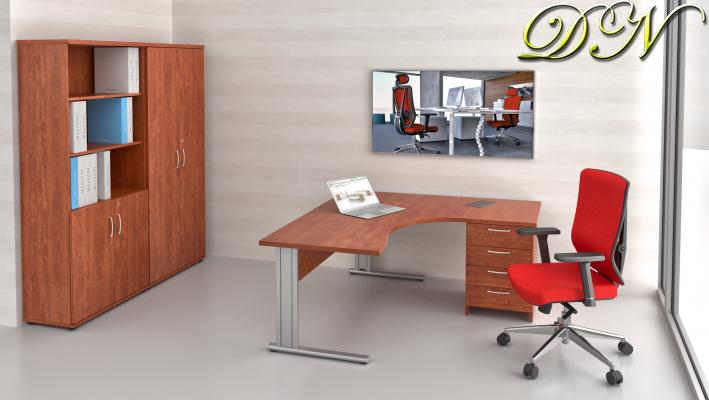 Sestava kancelářského nábytku Komfort 1.12, calvados - ZEP 1.12 03