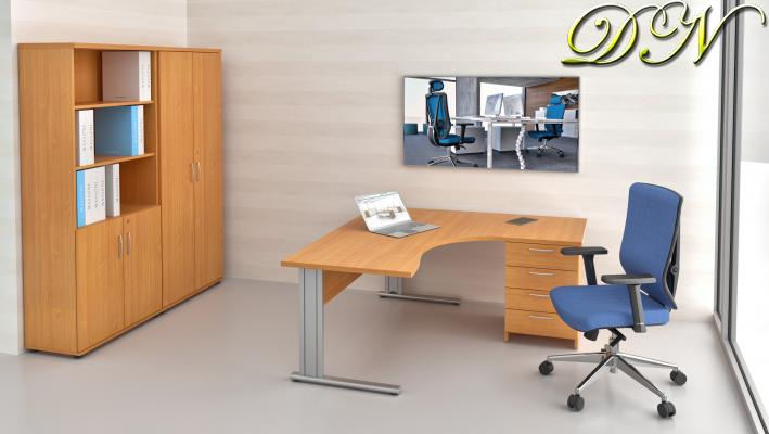 Sestava kancelářského nábytku Komfort 1.12, buk - ZEP 1.12 11