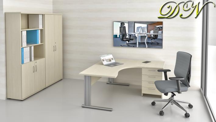 Sestava kancelářského nábytku Komfort 1.12, javor - ZEP 1.12 12