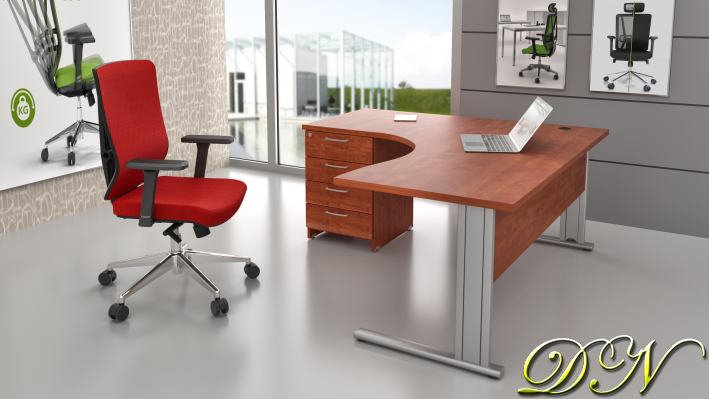 Sestava kancelářského nábytku Komfort 1.14, calvados - ZEP 1.14 03