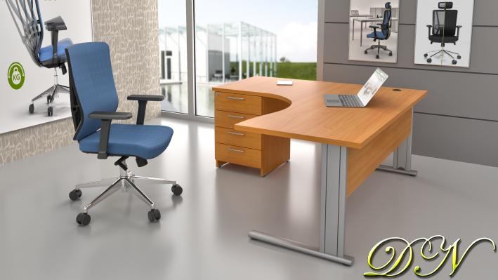 Sestava kancelářského nábytku Komfort 1.14, buk - ZEP 1.14 11