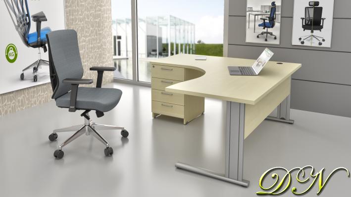 Sestava kancelářského nábytku Komfort 1.14, javor - ZEP 1.14 12