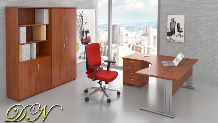 Sestava kancelářského nábytku Komfort 1.18, calvados - ZEP 1.18 03