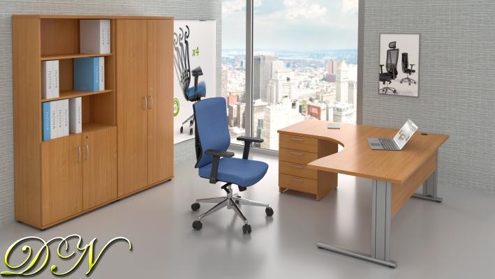 Sestava kancelářského nábytku Komfort 1.18, buk - ZEP 1.18 11