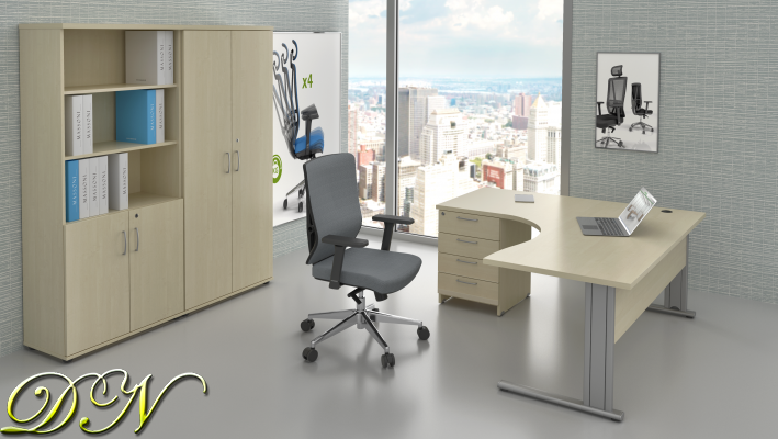 Sestava kancelářského nábytku Komfort 1.18, javor - ZEP 1.18 12