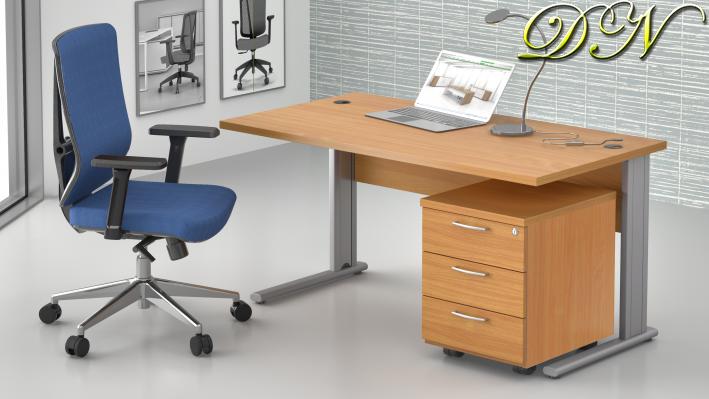 Sestava kancelářského nábytku Komfort 1.2, buk - ZEP 1.2 11