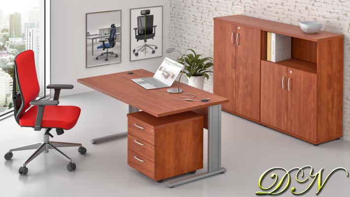 Sestava kancelářského nábytku Komfort 1.6, calvados - ZEP 1.6 03