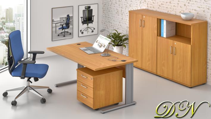 Sestava kancelářského nábytku Komfort 1.6, buk - ZEP 1.6 11