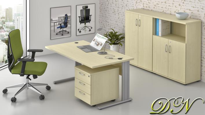 Sestava kancelářského nábytku Komfort 1.6, javor - ZEP 1.6 12
