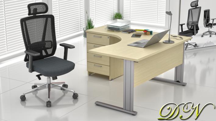Sestava kancelářského nábytku Komfort 1.8, javor - ZEP 1.8 12
