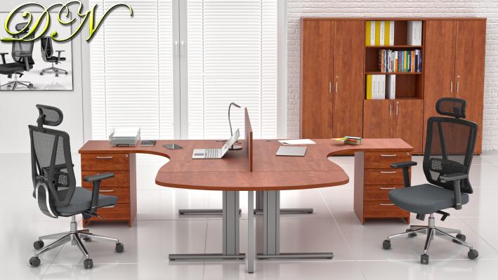 Sestava kancelářského nábytku Komfort 2.12, calvados - ZEP 2.12P 03