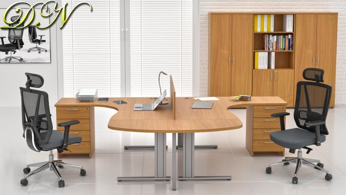 Sestava kancelářského nábytku Komfort 2.12, buk - ZEP 2.12P 11