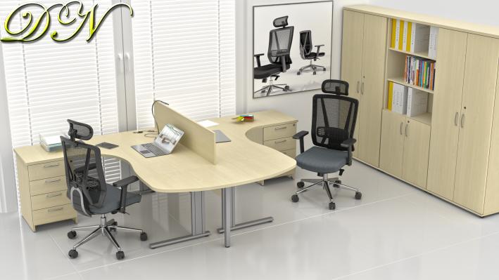 Sestava kancelářského nábytku Komfort 2.12, javor - ZEP 2.12P 12