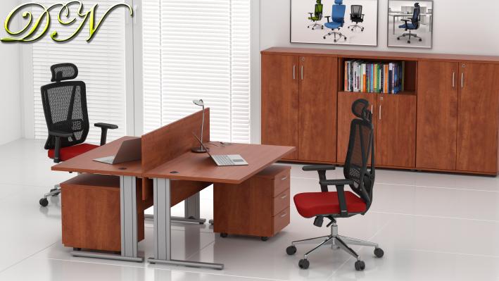 Sestava kancelářského nábytku Komfort 2.6, calvados - ZEP 2.6 03
