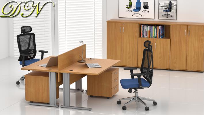 Sestava kancelářského nábytku Komfort 2.6, buk - ZEP 2.6 11
