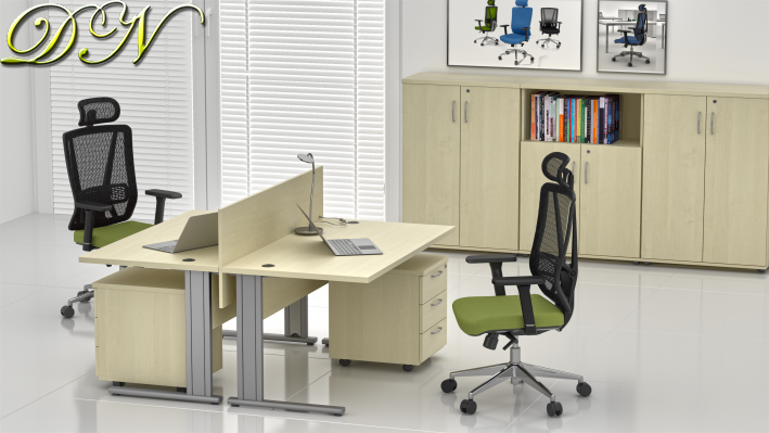Sestava kancelářského nábytku Komfort 2.6, javor - ZEP 2.6 12