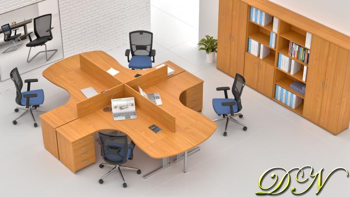 Sestava kancelářského nábytku Komfort 4.12, buk - ZEP 4.12P 11