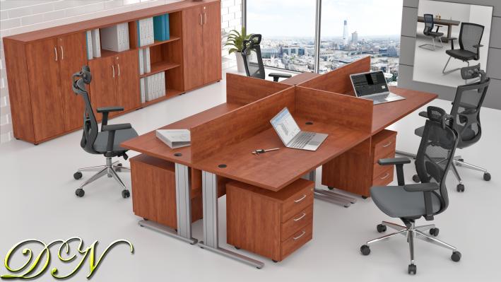 Sestava kancelářského nábytku Komfort 4.6, calvados - ZEP 4.6 03