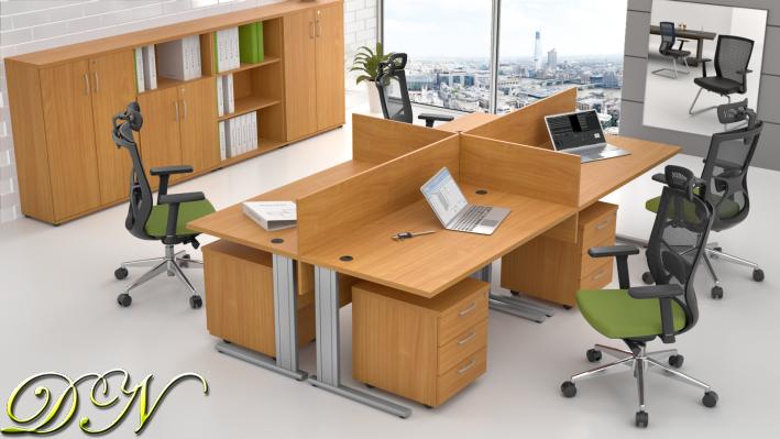 Sestava kancelářského nábytku Komfort 4.6, buk - ZEP 4.6 11