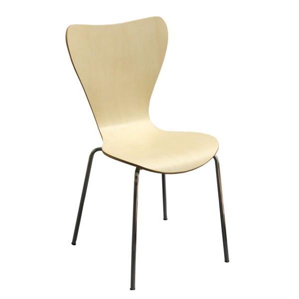 Židle JOHANA, chrom - lípa - Z12